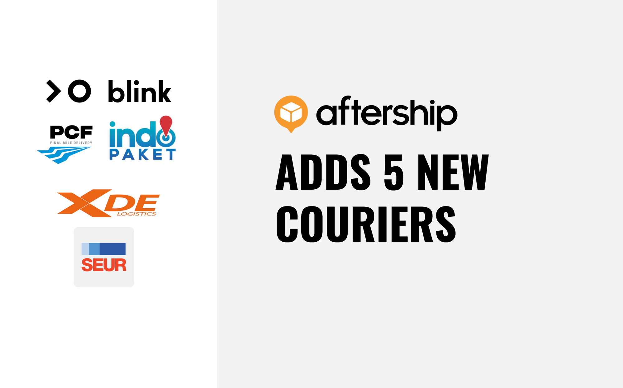 AfterShip adds 5 new couriers this week (21st Dec 2020 to 25th Dec 2020)