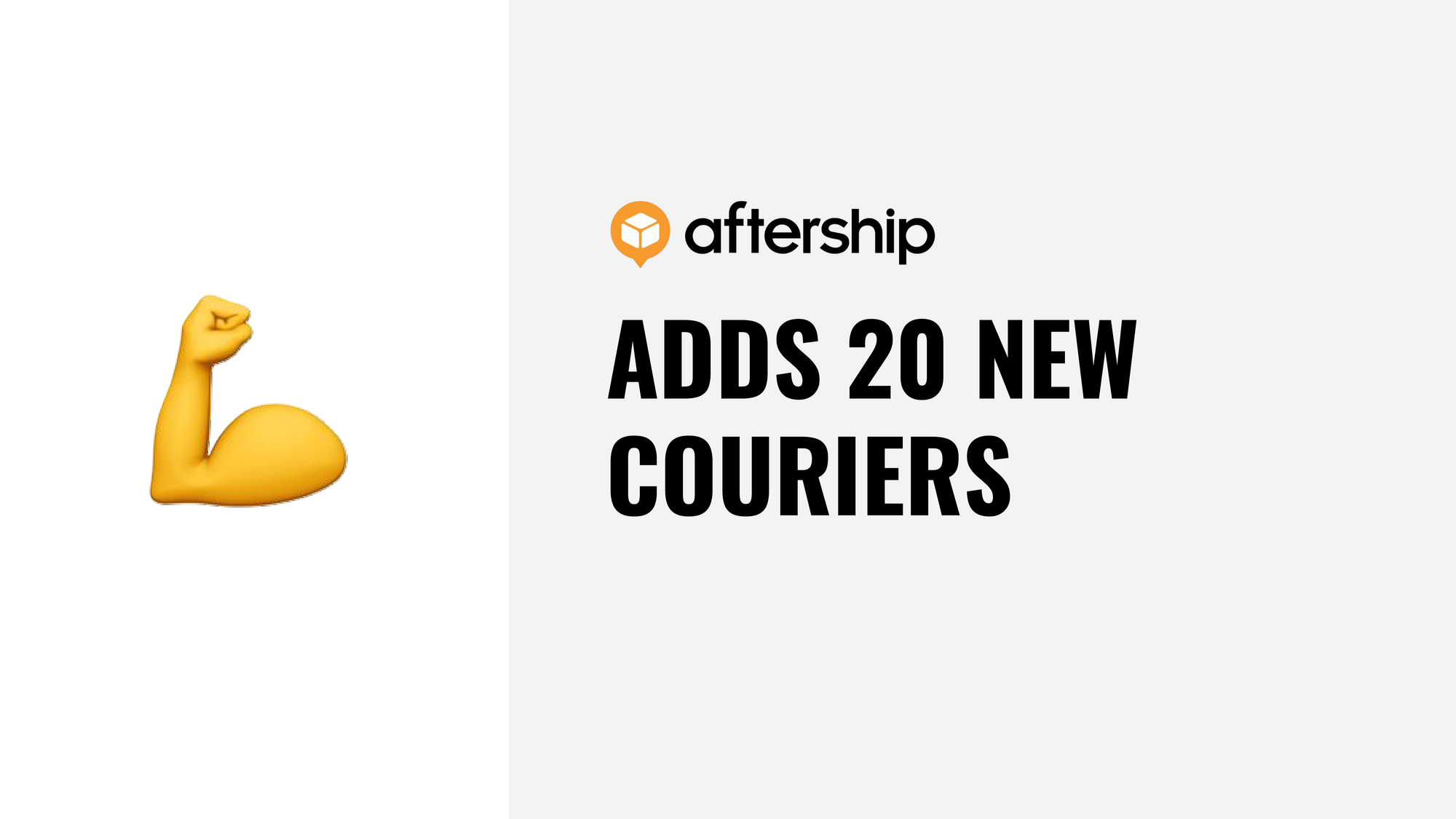 AfterShip adds 20 new couriers this week (26 Oct 2020 to 30 Oct 2020)