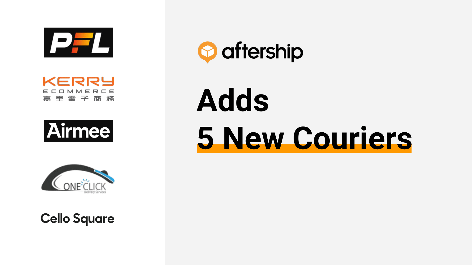 AfterShip adds 5 new couriers this week  (6 July 2020 to 10 July 2020)