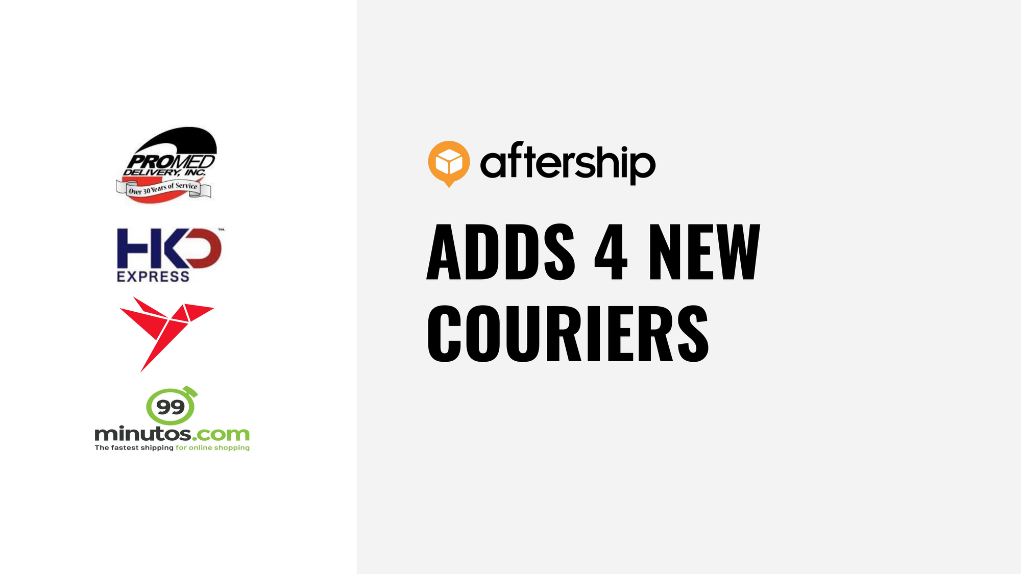 AfterShip adds 4 new couriers this week (9 Nov 2020 to 13 Nov 2020)