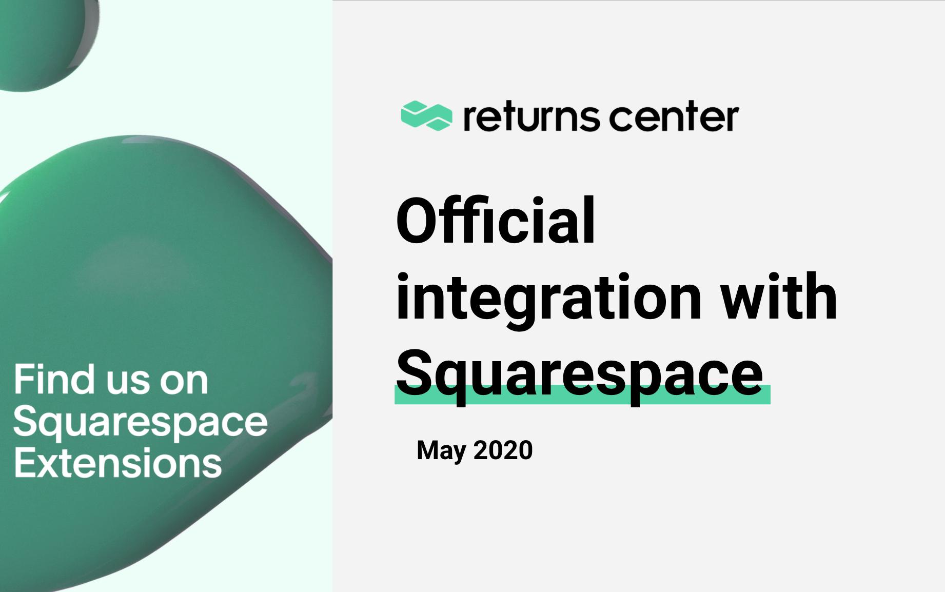AfterShip Returns Center + Squarespace integration