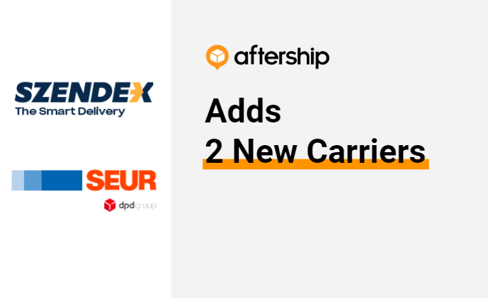 AfterShip adds 2 new carriers this week (20 July 2020 to 24 July 2020)
