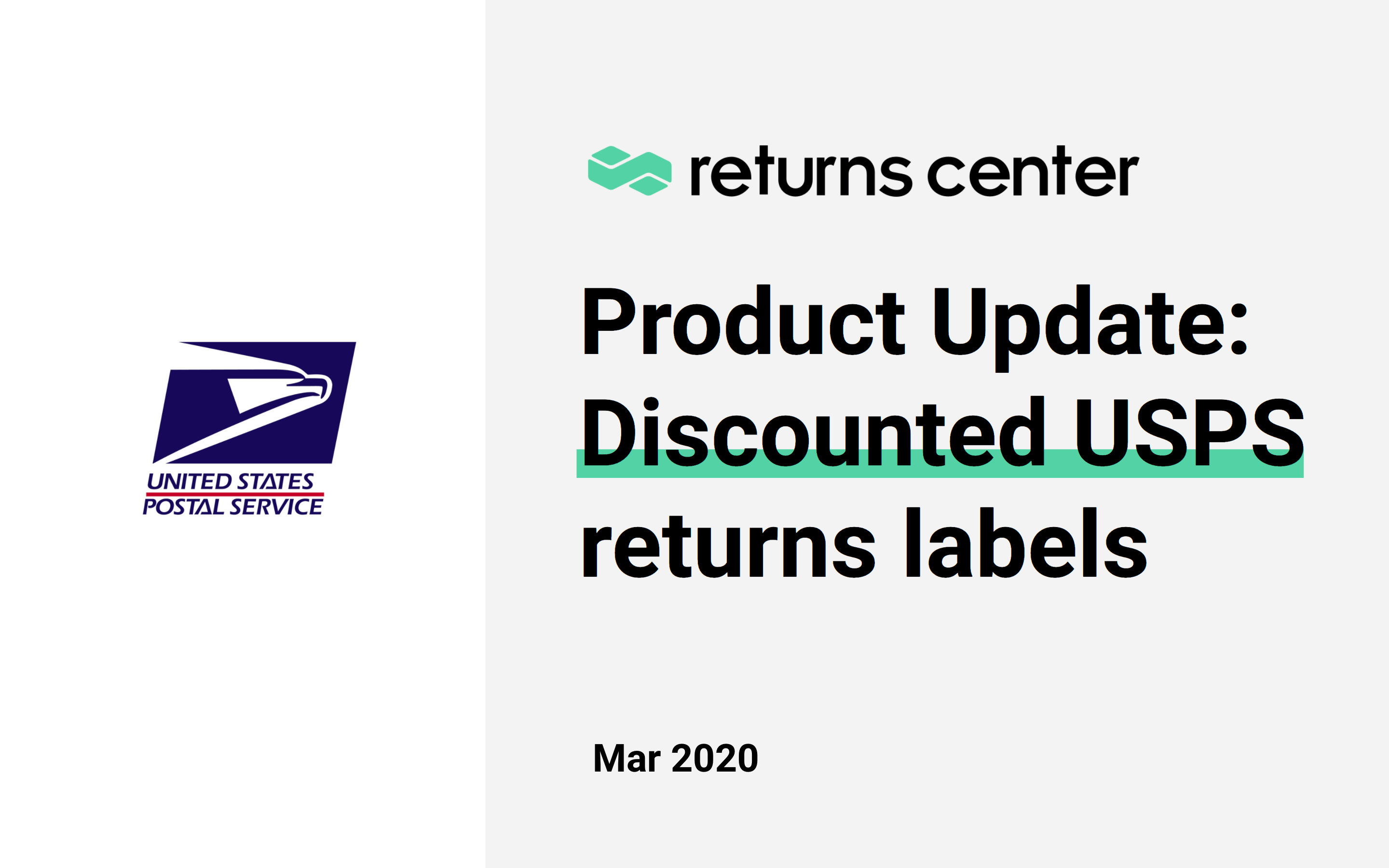 Print discounted USPS returns labels with Returns Center