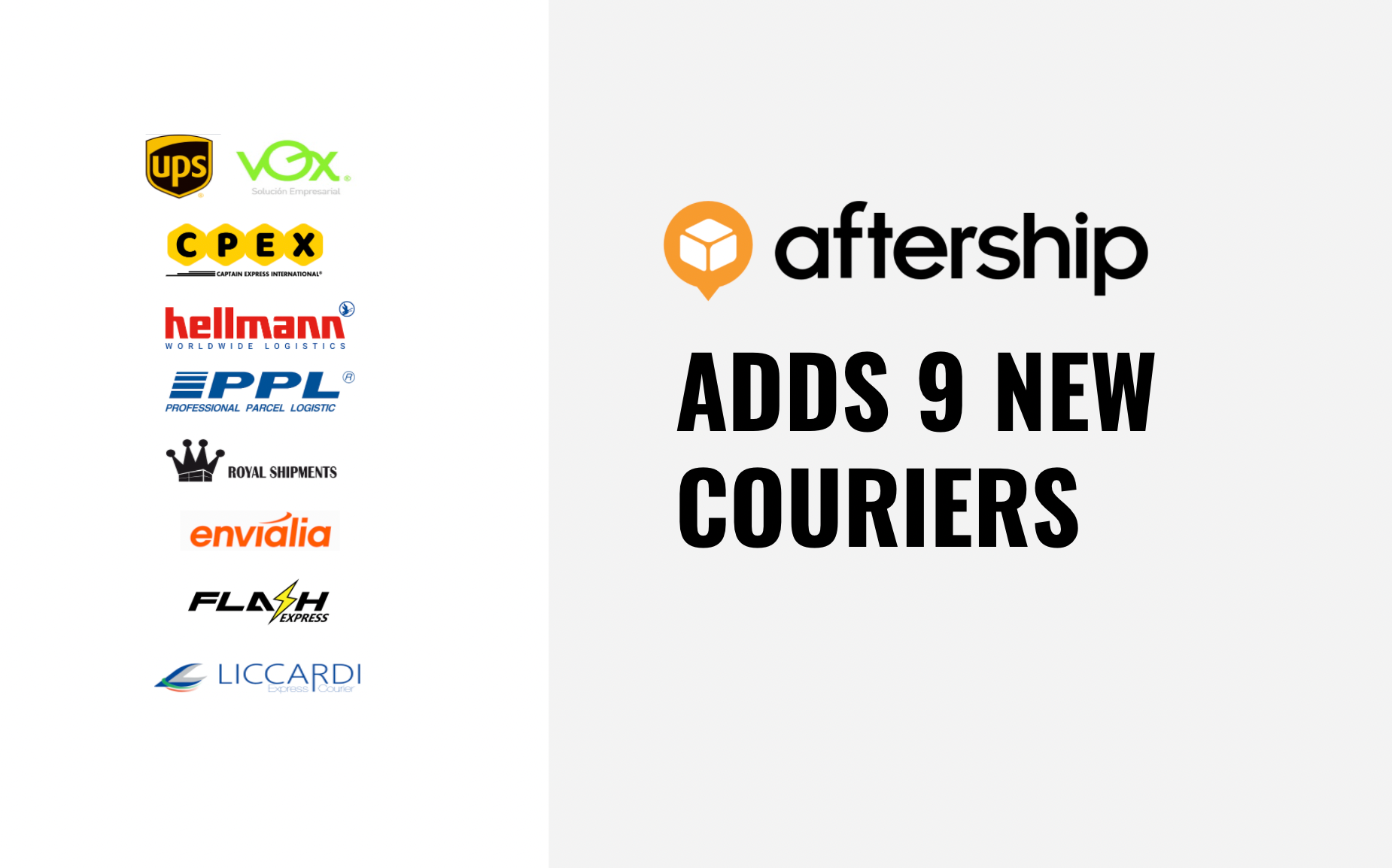AfterShip adds 9 new couriers this week (2nd Feb 2021 to 8th Feb 2021)