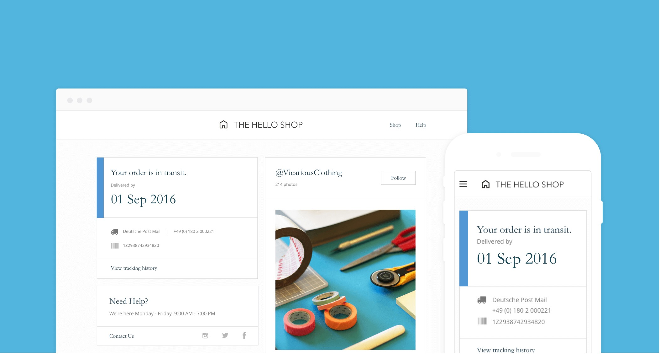 Announcing New Design & Branded Tracking Page