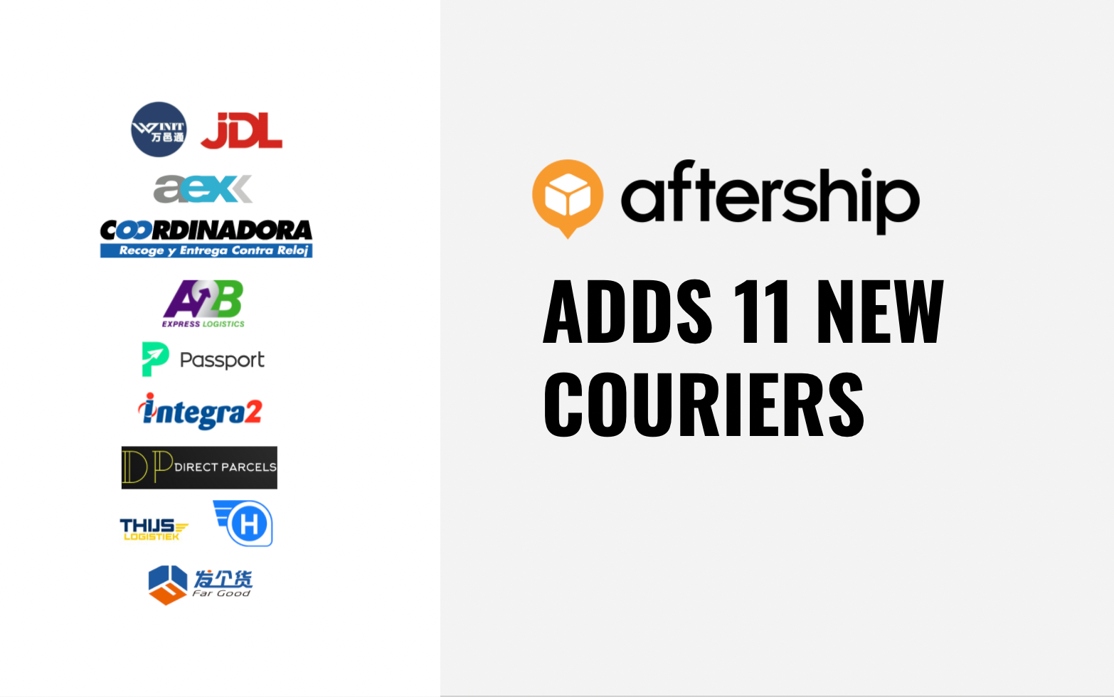AfterShip adds 11 new couriers in last two weeks (31st May 2021 to 13th June 2021)