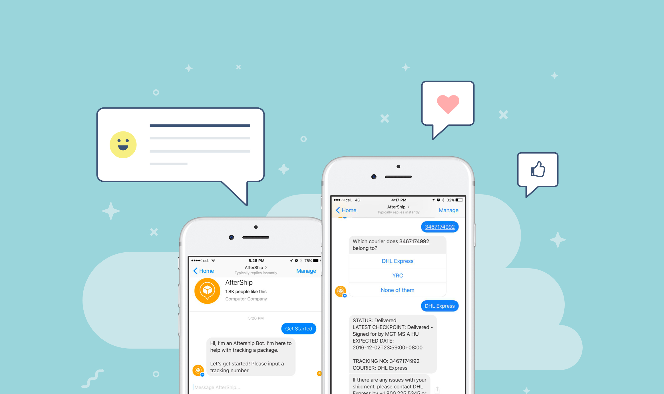 AfterShip's All New Facebook Bot ! 🤖
