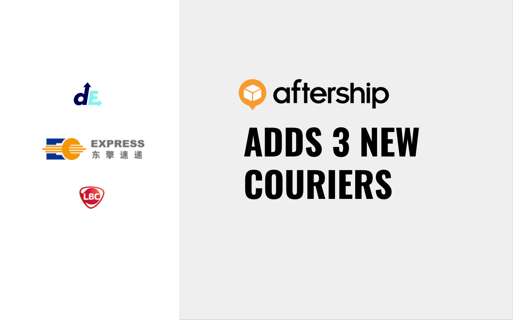 AfterShip adds 3 new couriers between 28th June 2021 and 11th July 2021