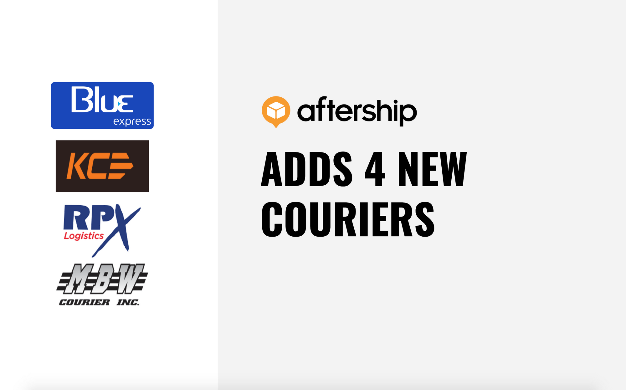 AfterShip adds 4 new couriers this week (4th Jan 2021-8th Jan 2021)