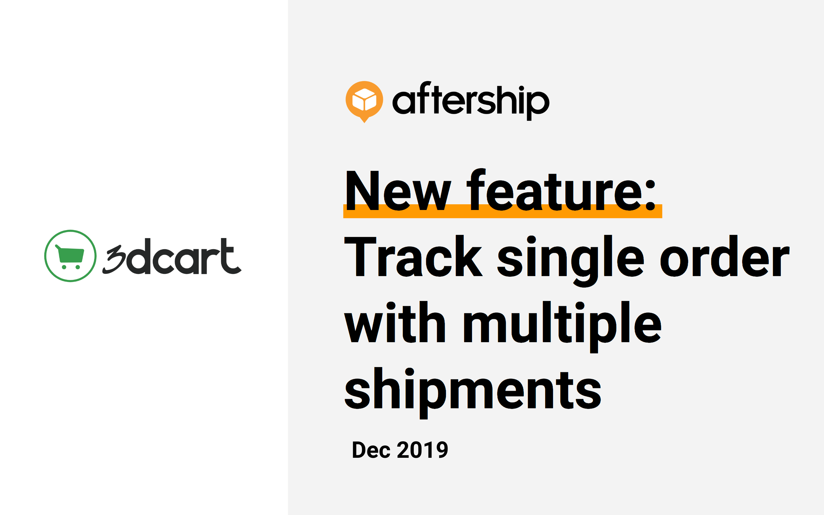 New feature: Track multiple shipments for a single order in 3dcart