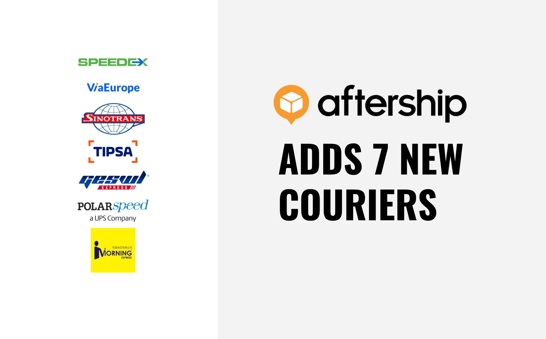 AfterShip adds 7 new couriers this week (9th Mar 2021 to 23rd Mar 2021)