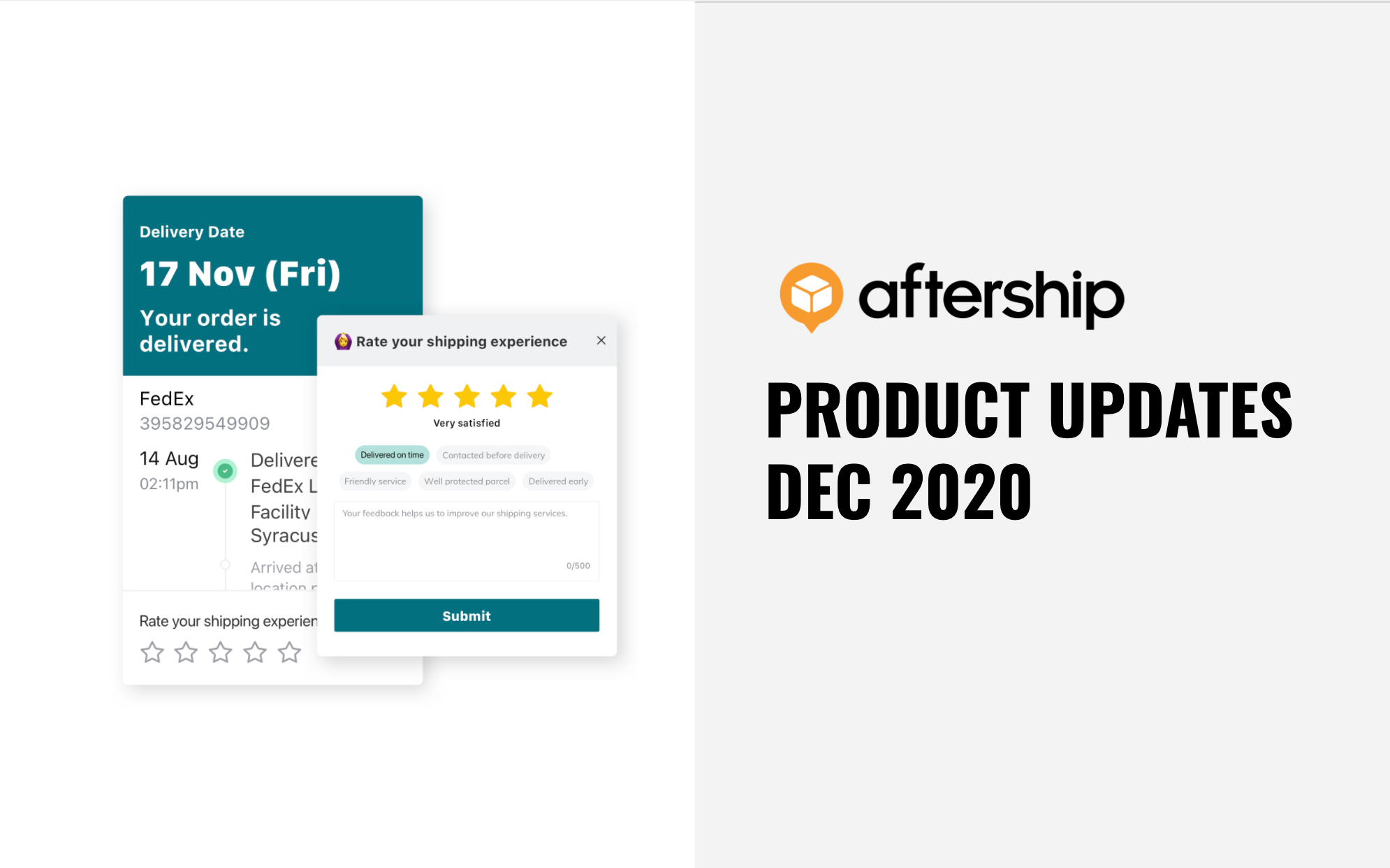 AfterShip new features: Customer reviews, mobile tracking app and more