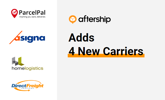 AfterShip adds 4 new carriers this week (13 July 2020 to 17 July 2020)