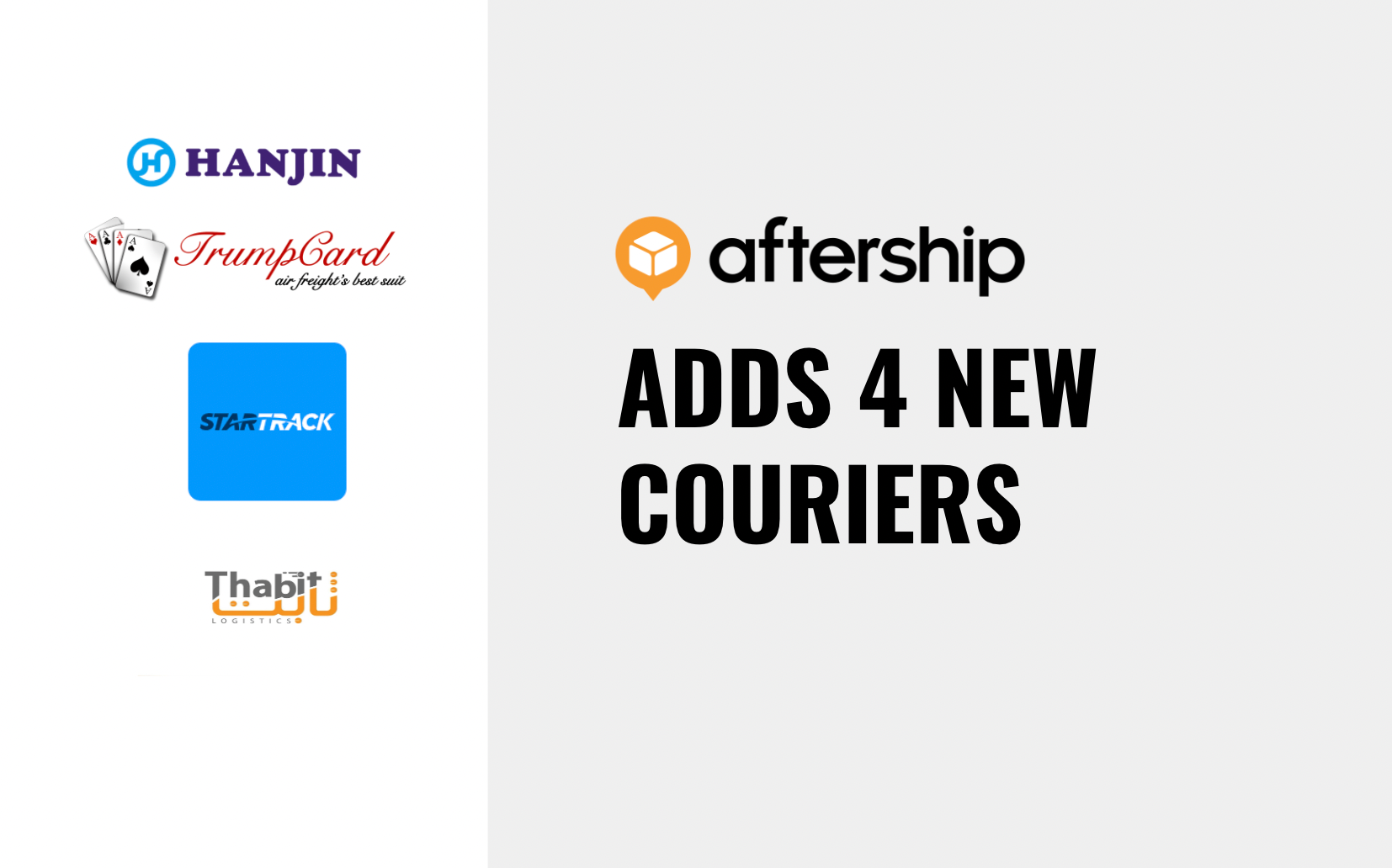 AfterShip adds 4 new couriers this week (2nd Mar 2021 to 8th Mar 2021)