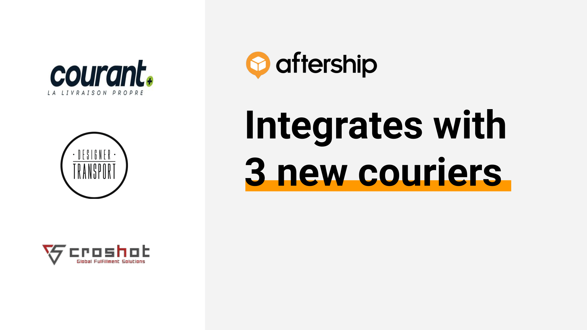 AfterShip adds 3 new couriers this week (31st August 2020 to 4th September 2020)