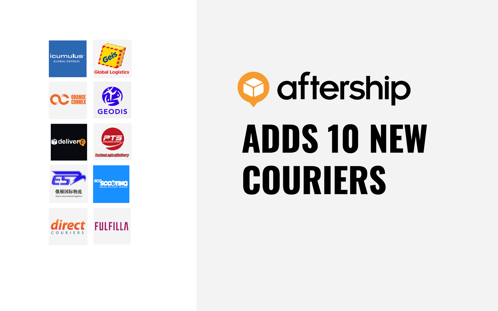 AfterShip adds 10 new couriers (20th April 2021 to 2nd May 2021)