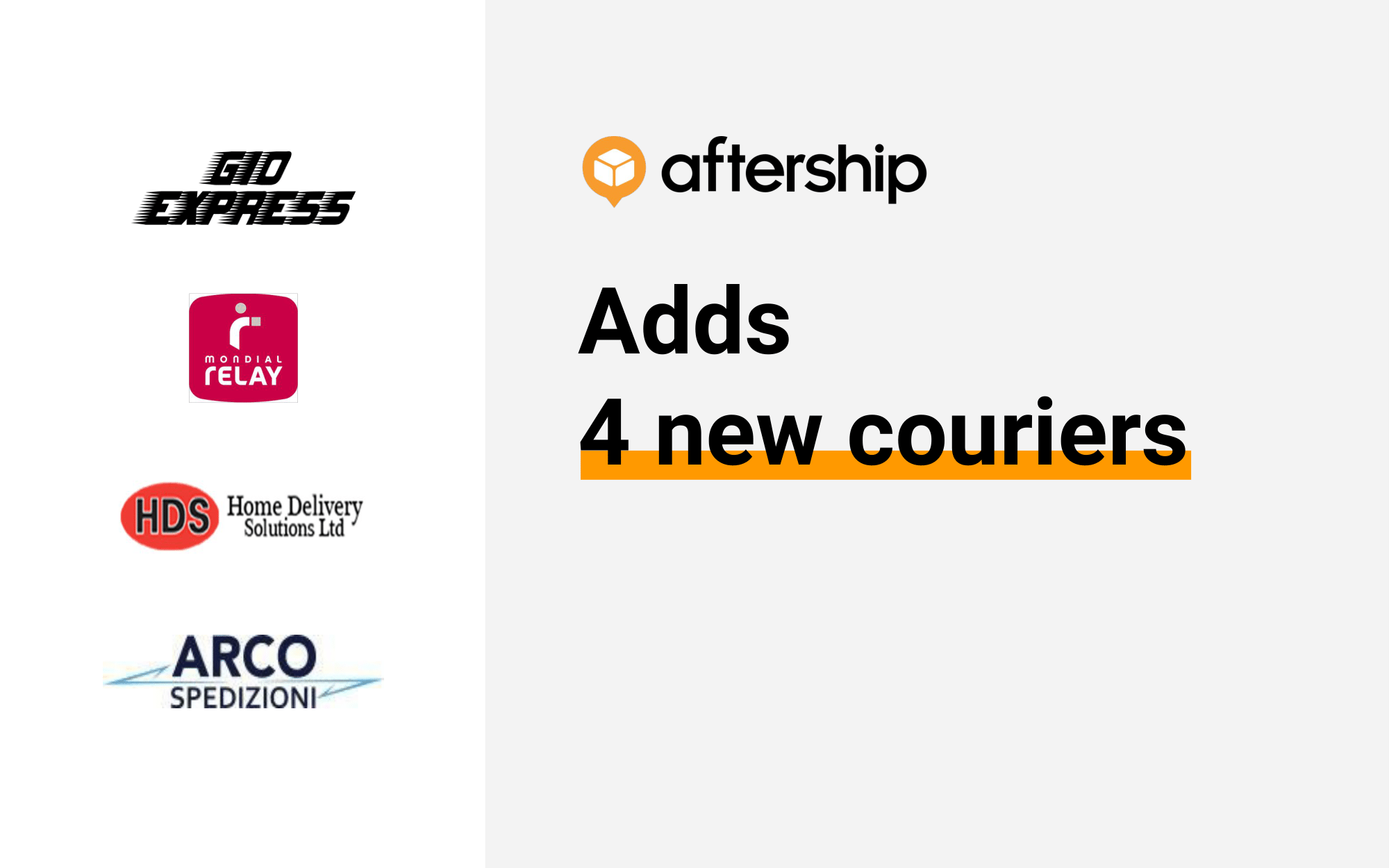 AfterShip adds 4 new couriers this week (24 August 2020 to 28 August 2020)