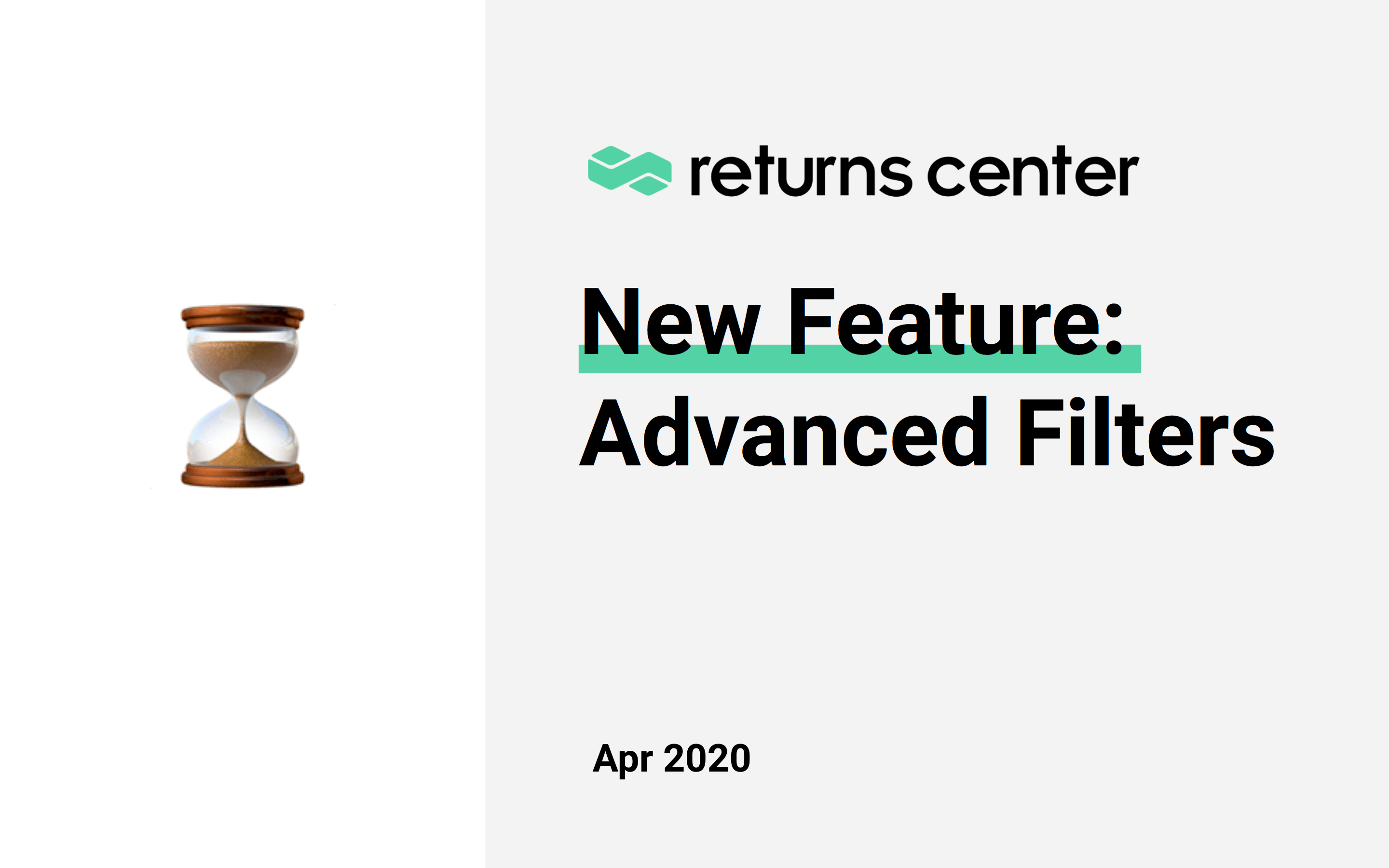 New Feature: Advanced Filters