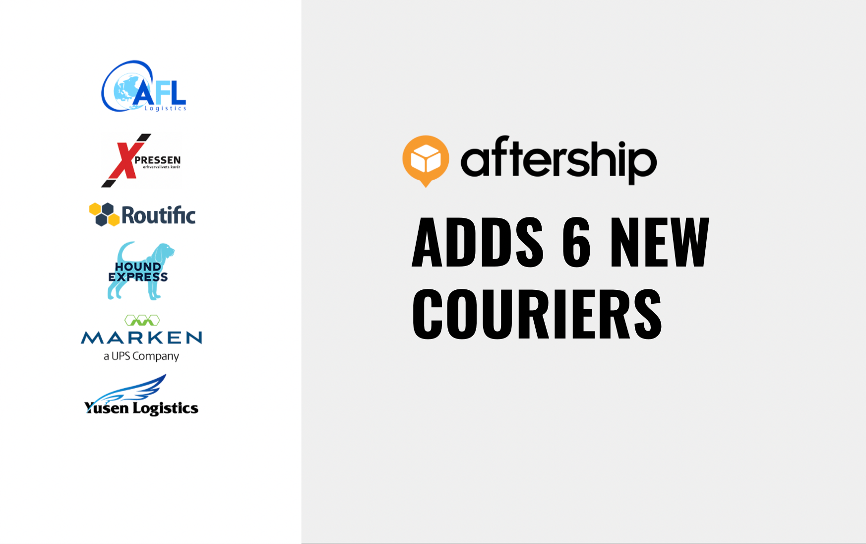 AfterShip adds 6 new couriers between 14th June 2021 and 27th June 2021