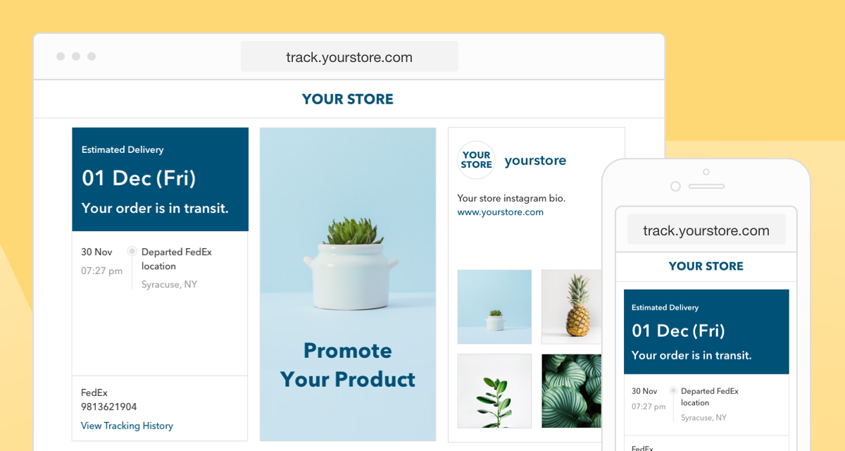 New Theme for Branded Tracking Page