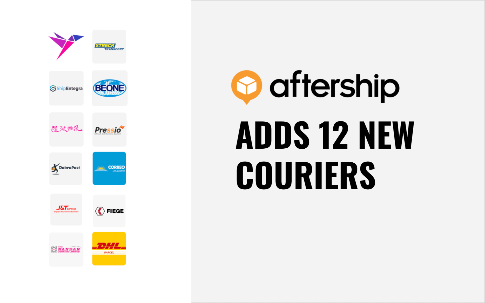 AfterShip adds 12 new couriers this week (15th May 2021 to 30th May 2021)