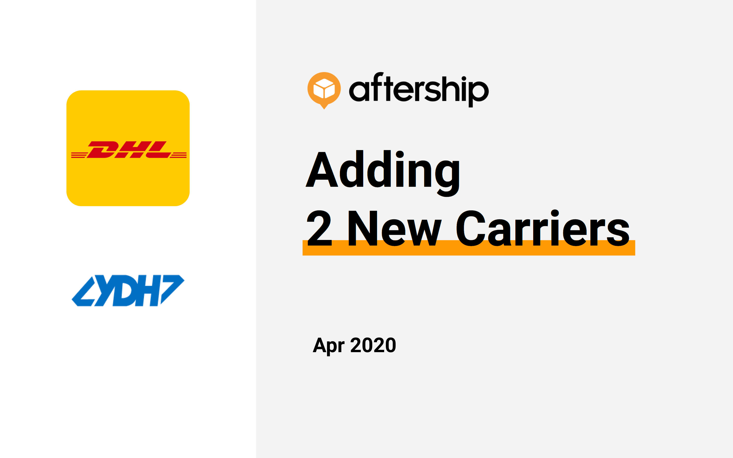 AfterShip added 2 new carriers this week (30 Mar 2020 to 02 Apr 2020)