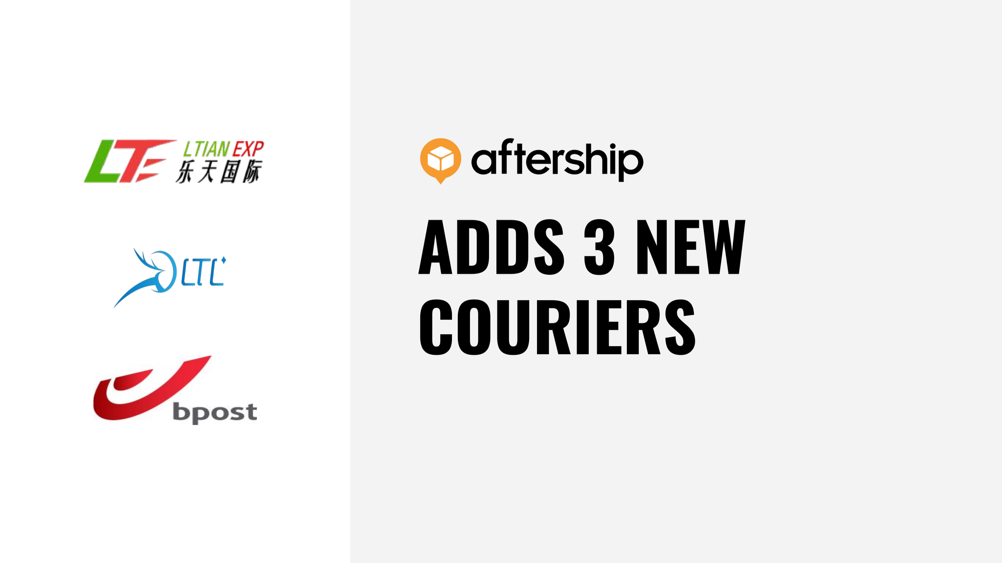 AfterShip adds 3 new couriers this week (2nd Nov 2020 to 6th Nov 2020)