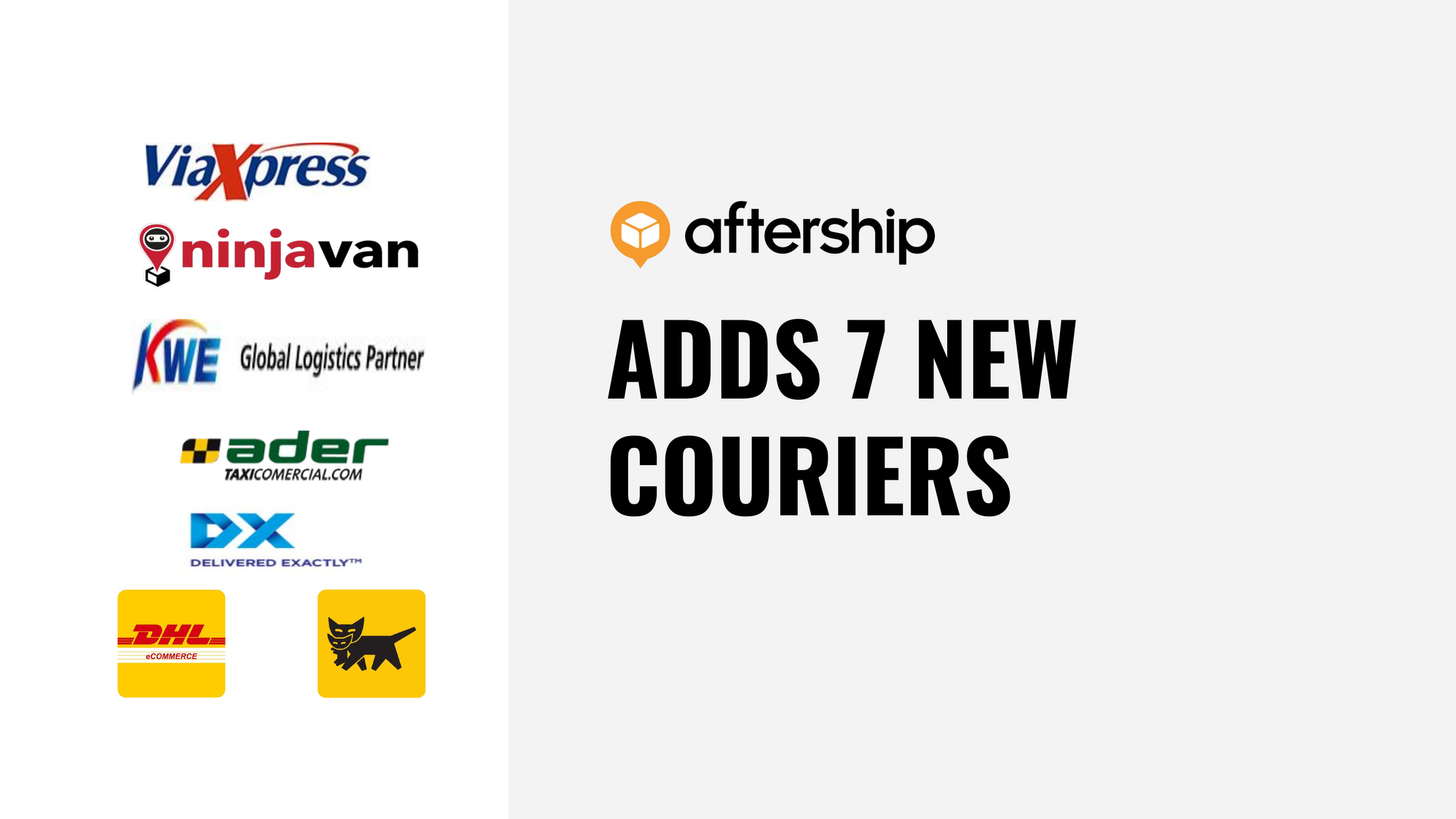 AfterShip adds 7 new couriers this week (28 Sep 2020 to 2 Oct 2020)