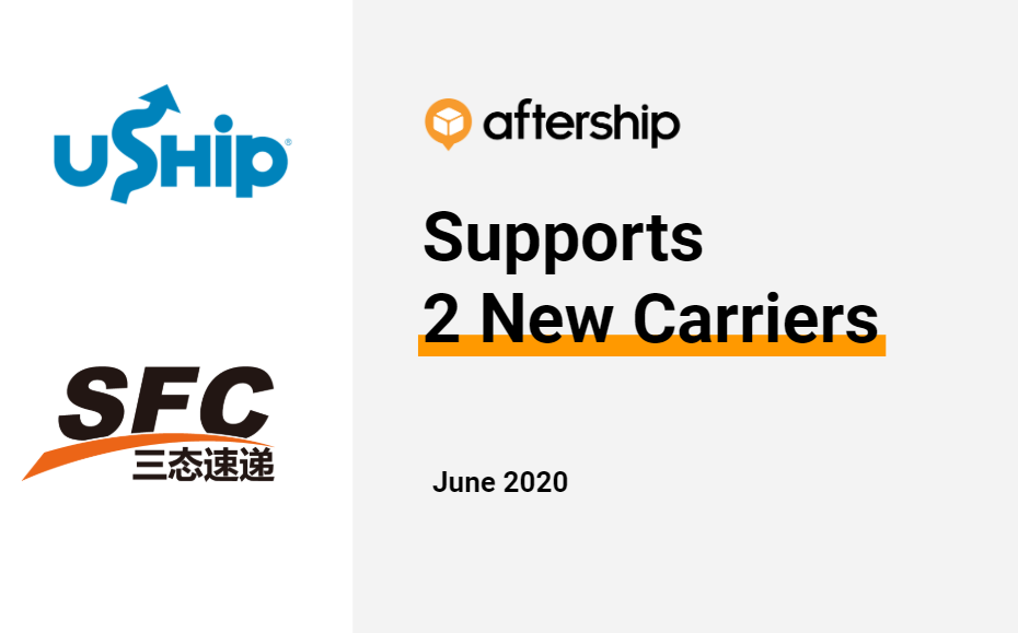 AfterShip adds 2 new couriers this week (22 June 2020 to 26 June 2020)